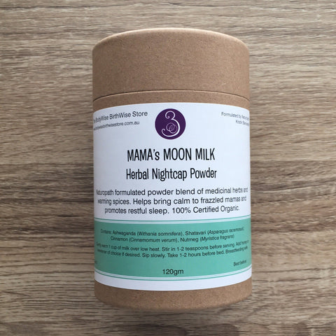 Mama's Moon Milk - Herbal Nightcap Powder with Ashwaganda (Withania), Shatavari