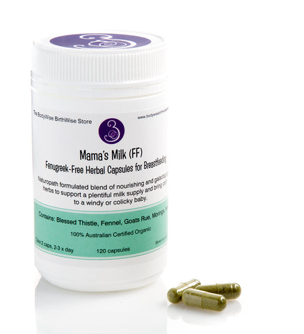 Mama's Milk (FF) Fenugreek-Free Herbal Capsules for Breastfeeding