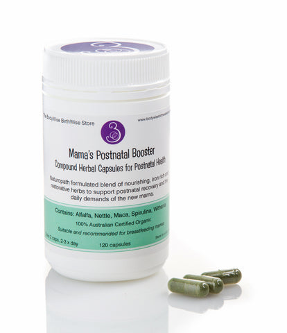 Mama's Postnatal Booster - Compound Herbal Capsules for Postnatal Health