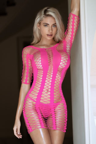 Bold Move Fishnet Bodystocking Dress