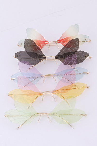 Butterfly Cutout Sunglasses Set
