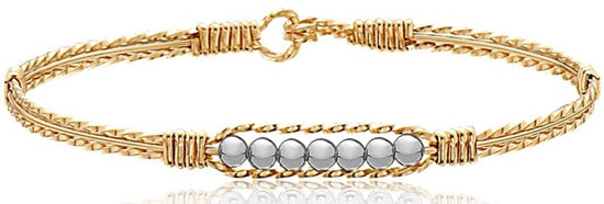 gold bracelet with beads