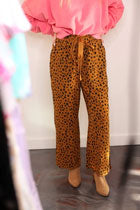 leopard dot pants