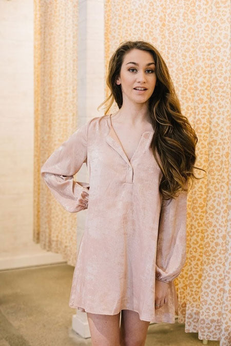 a rose gold tunic top