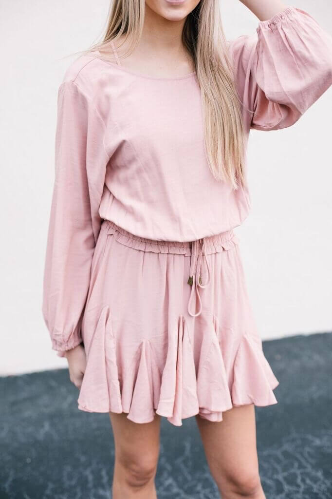 spring ruffle dress