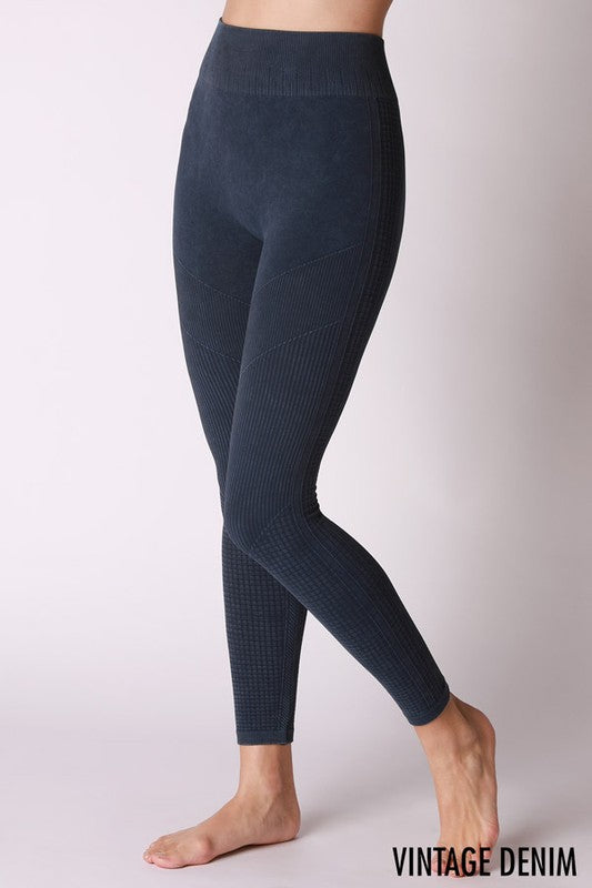 High Waist Vintage Wash Leggings