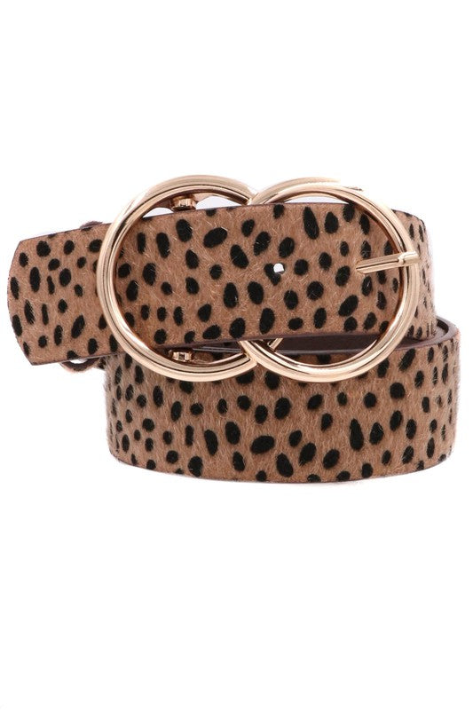 Patterned Double Buckle Belt