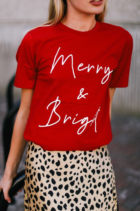 Merry & Bright Graphic Tee *PRE ORDER