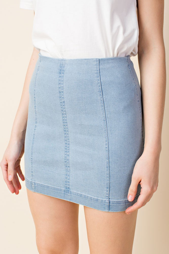 Denim Zipper Mini