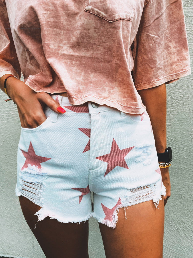 Summer Nights Star Print Shorts
