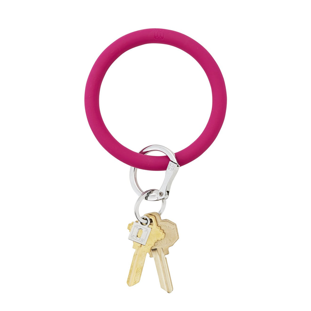 hot pink o ring keychain