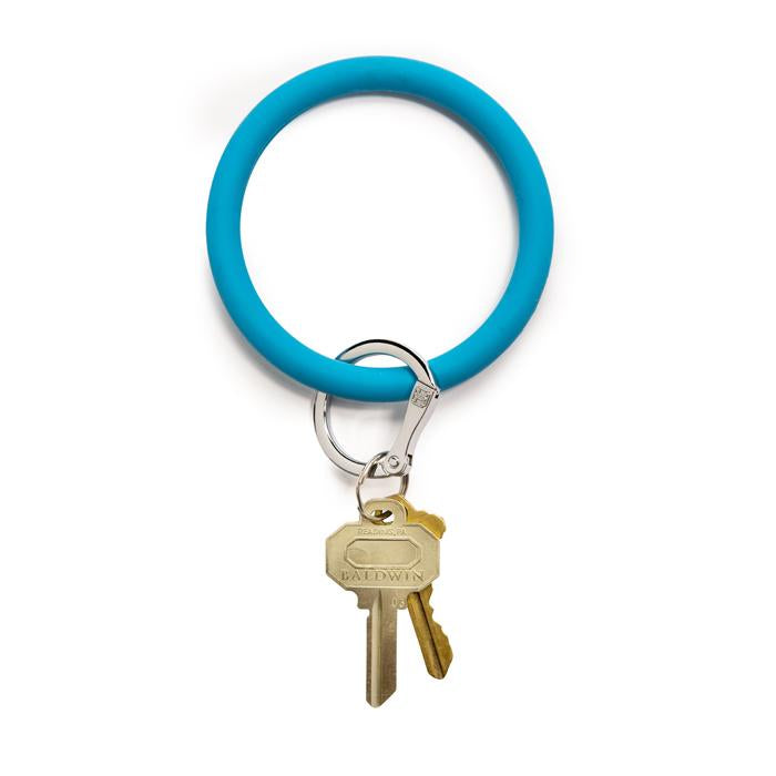 blue o ring keychain