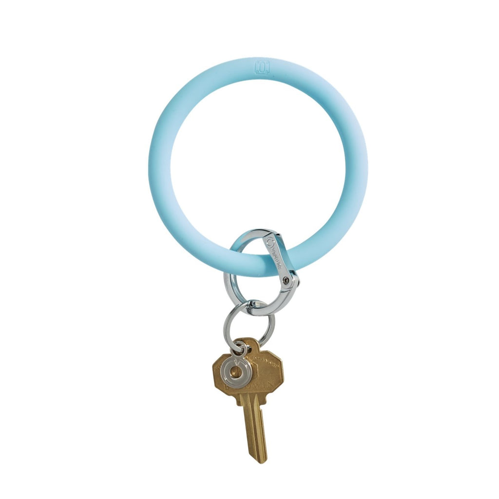 light blue o ring keychain