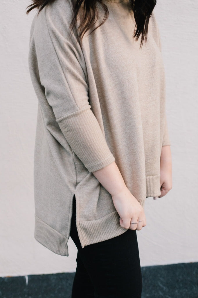 soft oversized top