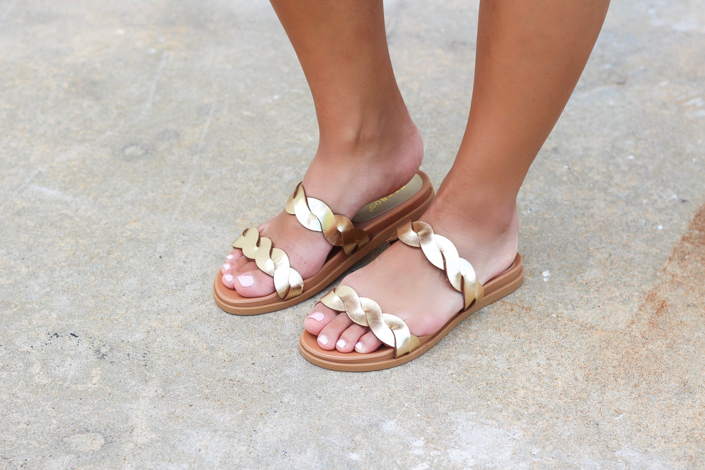 Braided Slide on Sandals