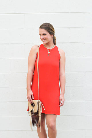 Cross Back Shift Dress