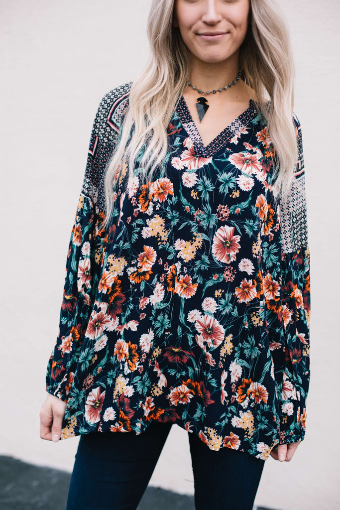 Floral Flowy Long Sleeve Top