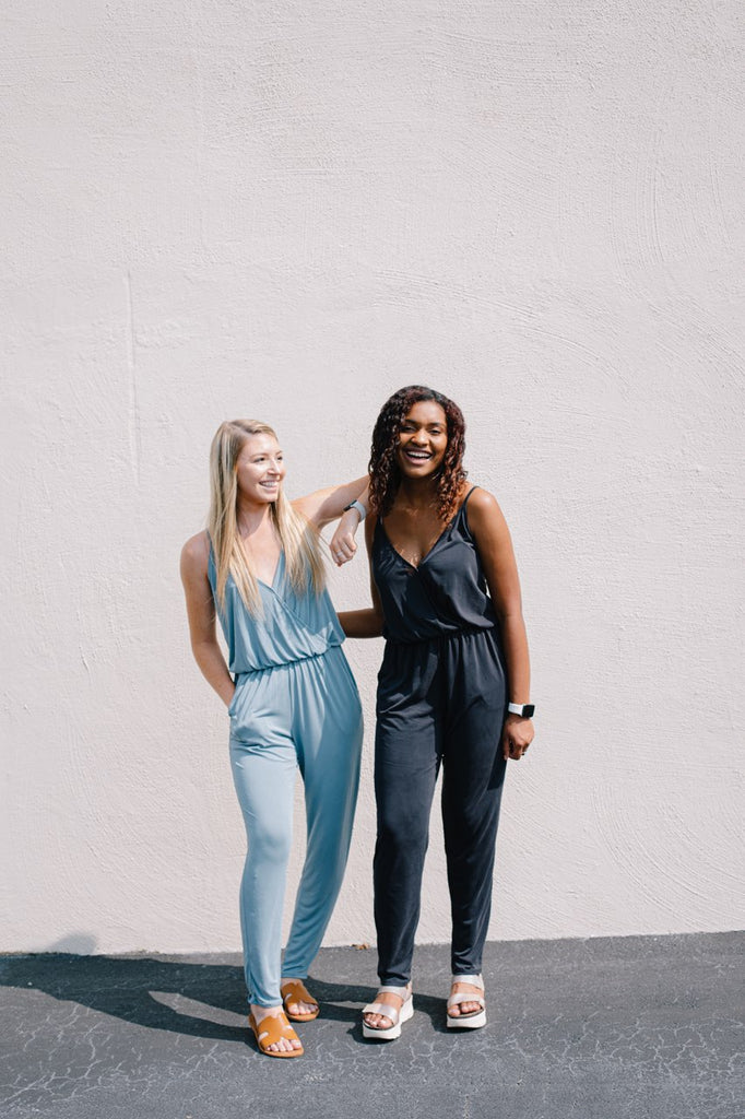 By The Bay Strappy Jumpsuit