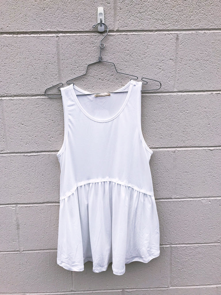 Soft Dropped Ruffle Hem Tank