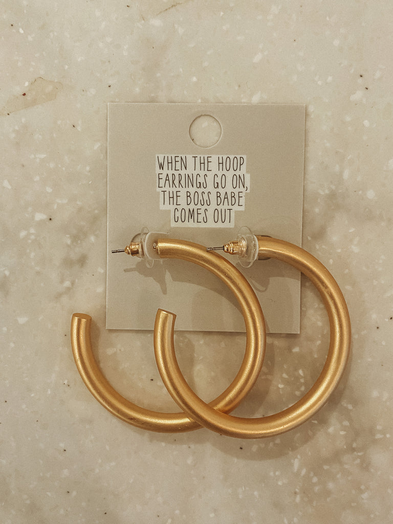 40MM Gold Tube Earrings