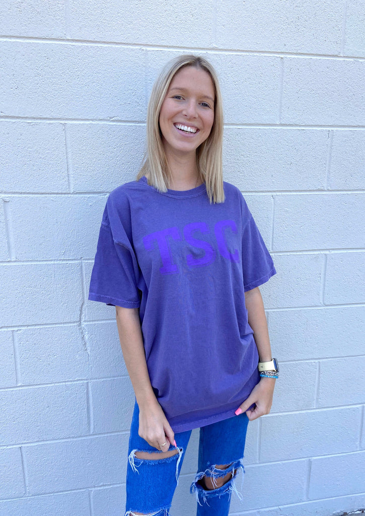 purple comfort colors tee