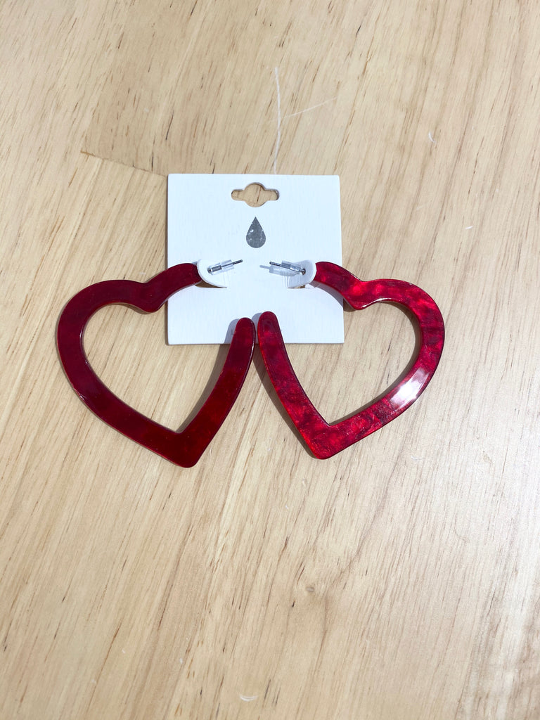 Red Heart Acrylic Hoops