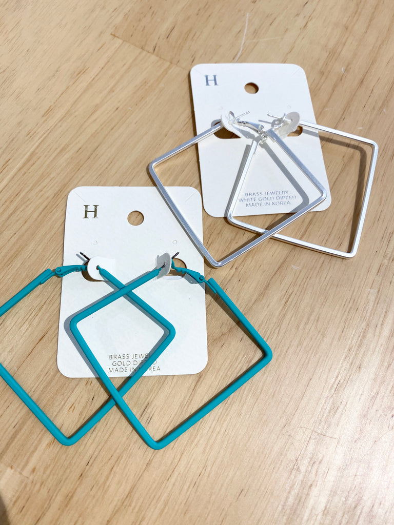 Square Matte Hoops