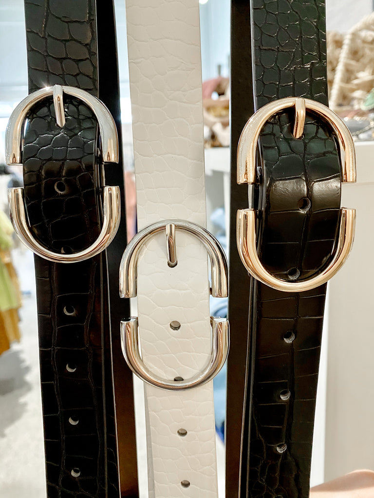 Metal Ring Buckle Belt