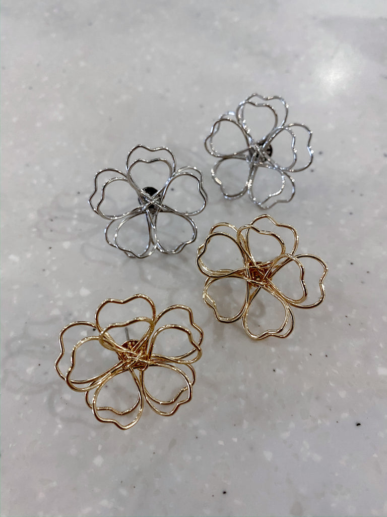 Wild Flower Wire Earrings