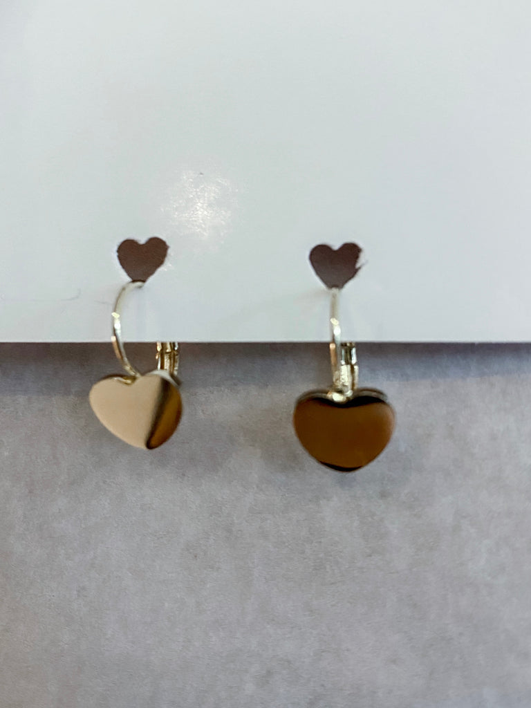 Dainty Heart Hoop Earrings