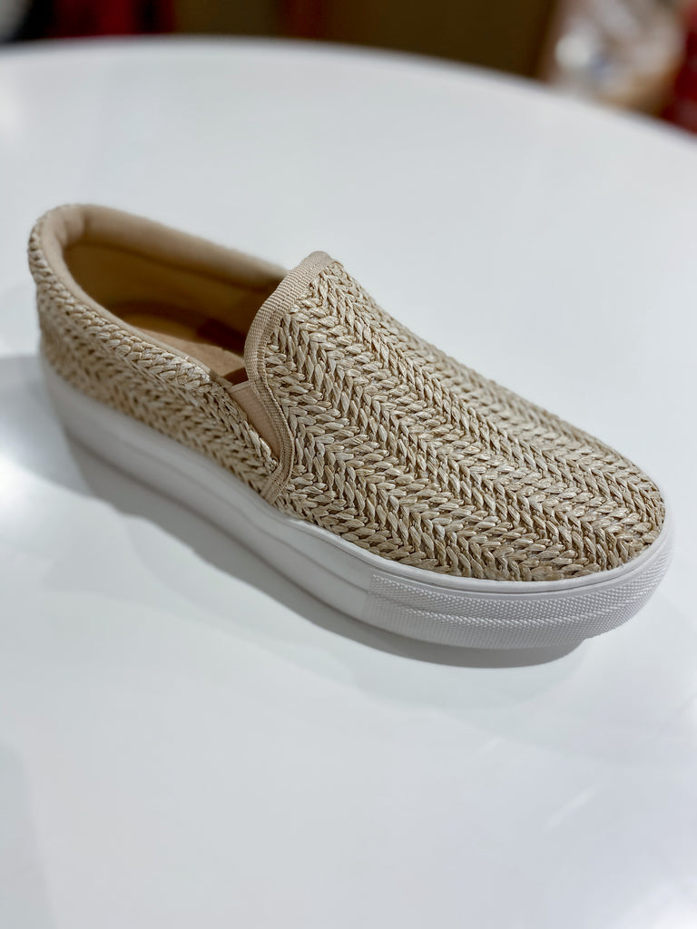 Crocheted Platform Slip On
