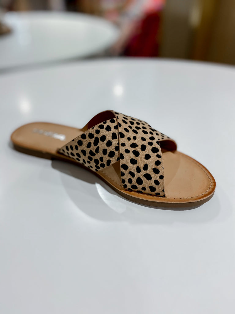 Leopard Criss Cross Sandals