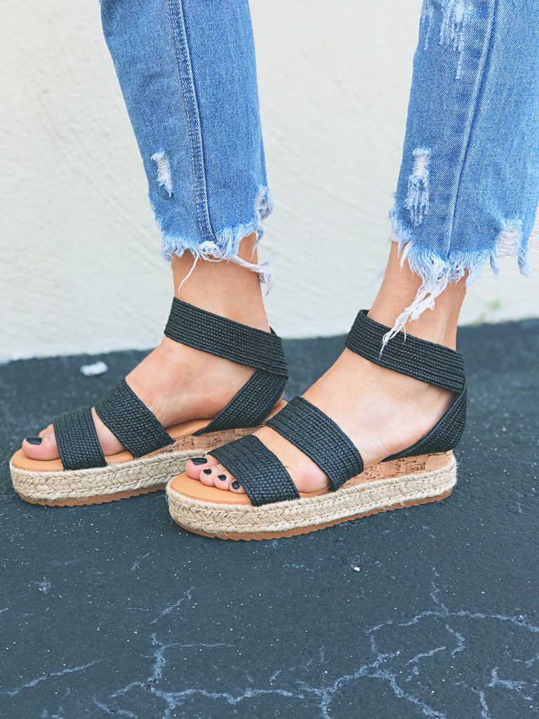 Crochet Double Strap Platforms