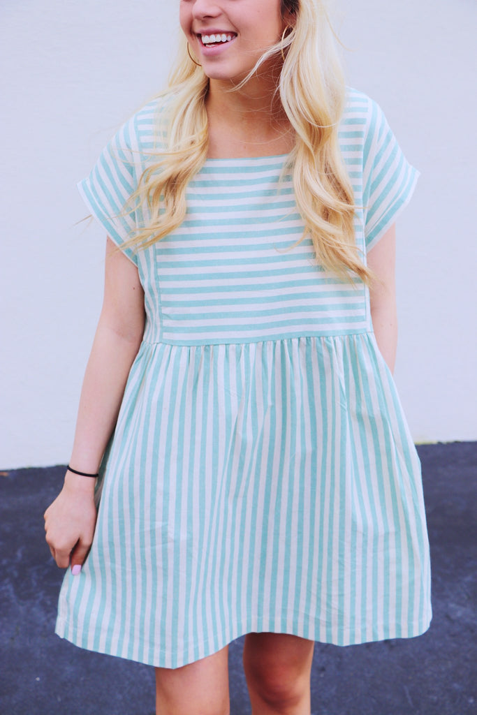 Striped Boxy Babydoll Dress