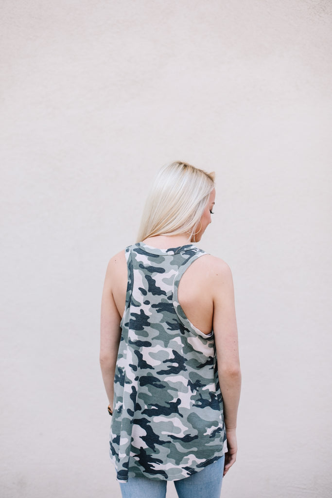 Camo Racer Back Thermal Tank
