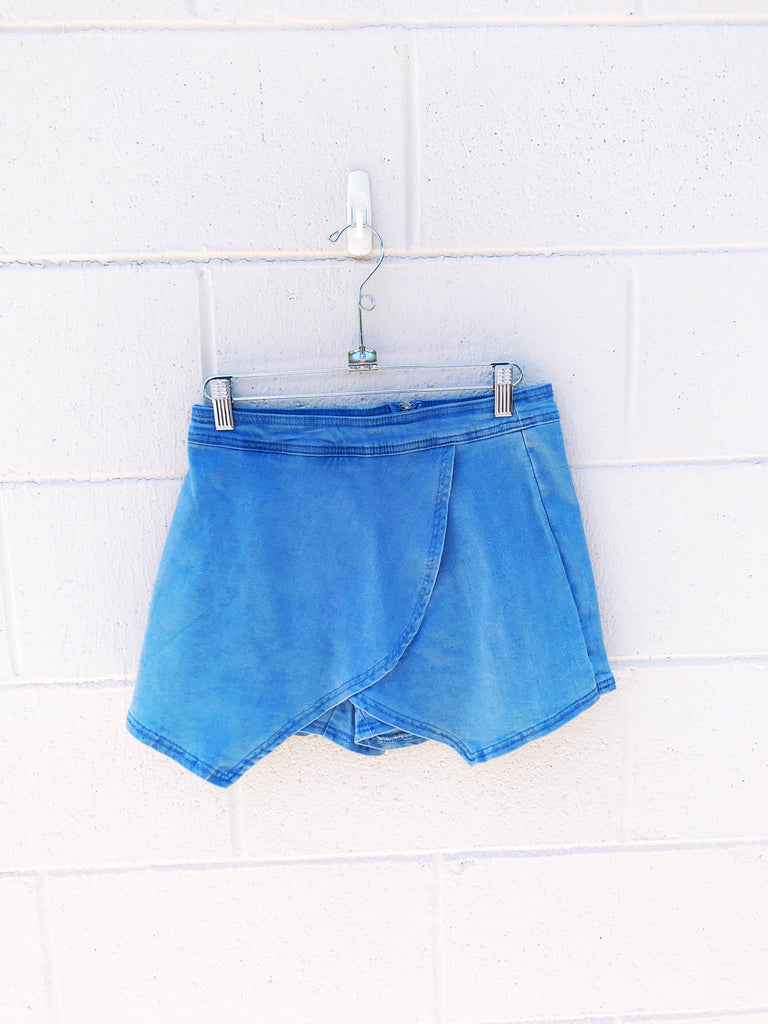 Denim Wrap Skort