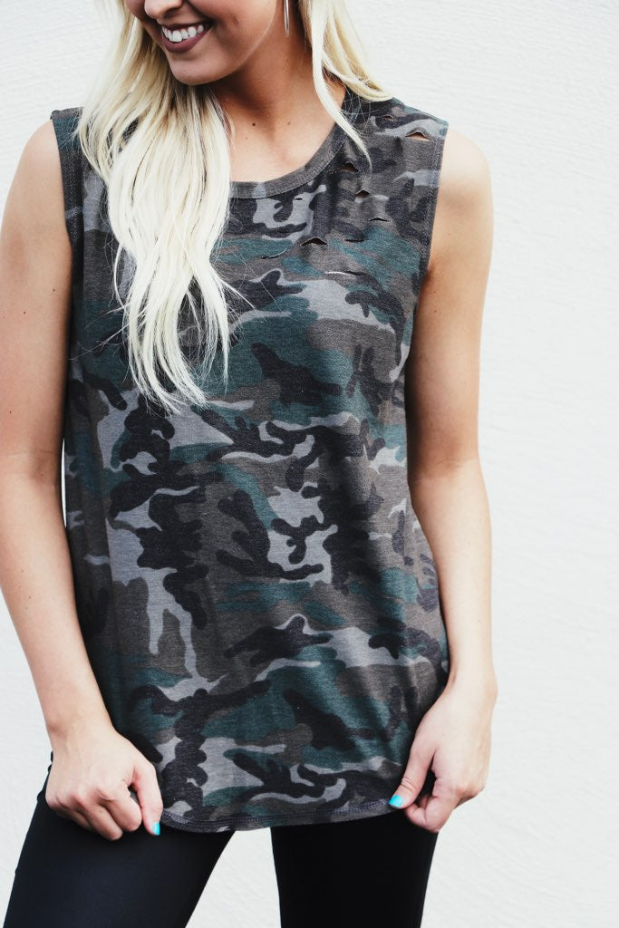 Destroyed Detail Camo Tank