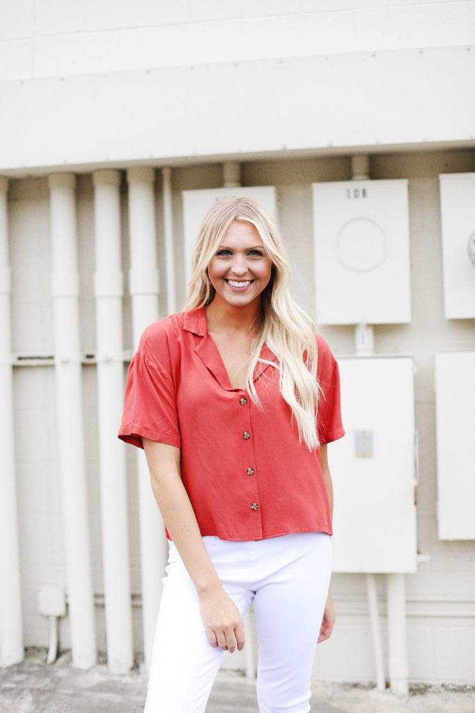 Boxy Button Up Top