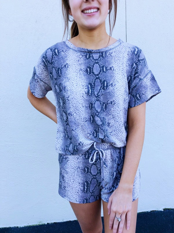 Snake Short Sleeve Terry Top