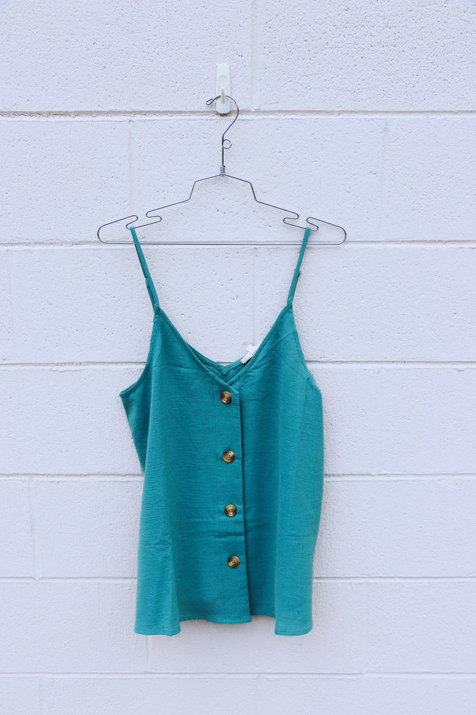 Double V Tortoise Button Tank