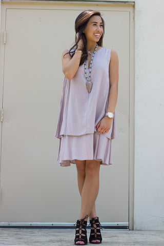 Sleeveless Front Layered Dress