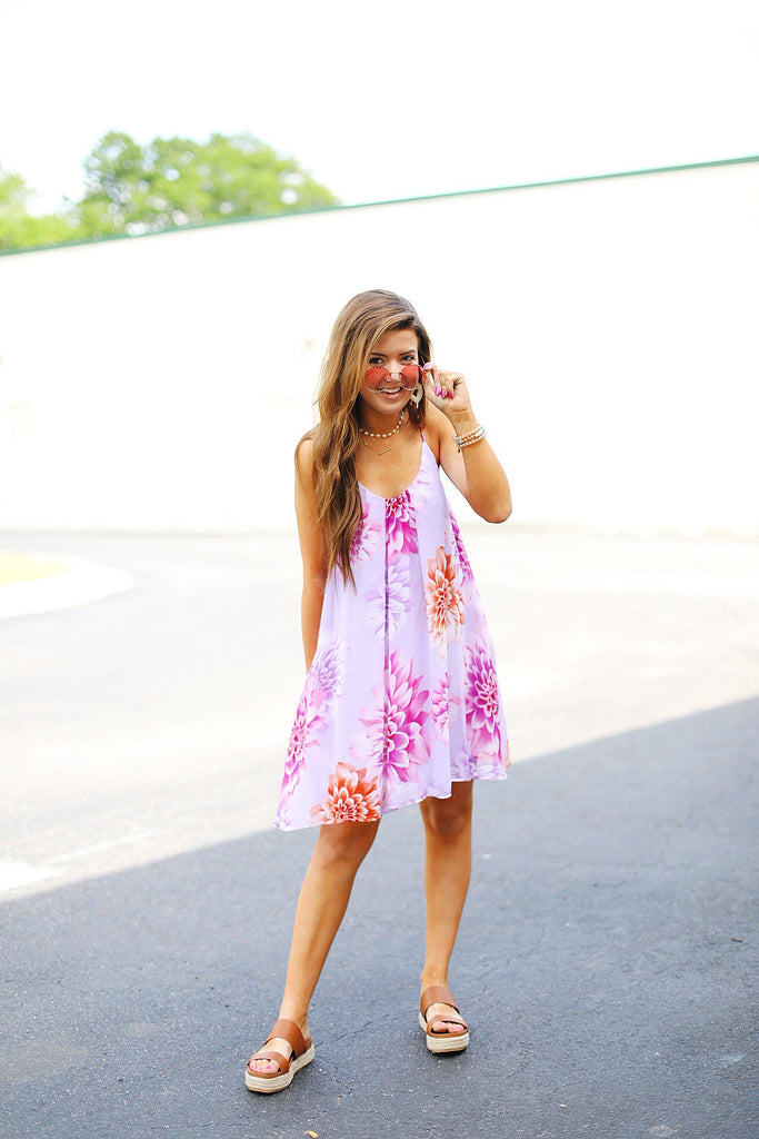 Floral Strappy Swing Dress