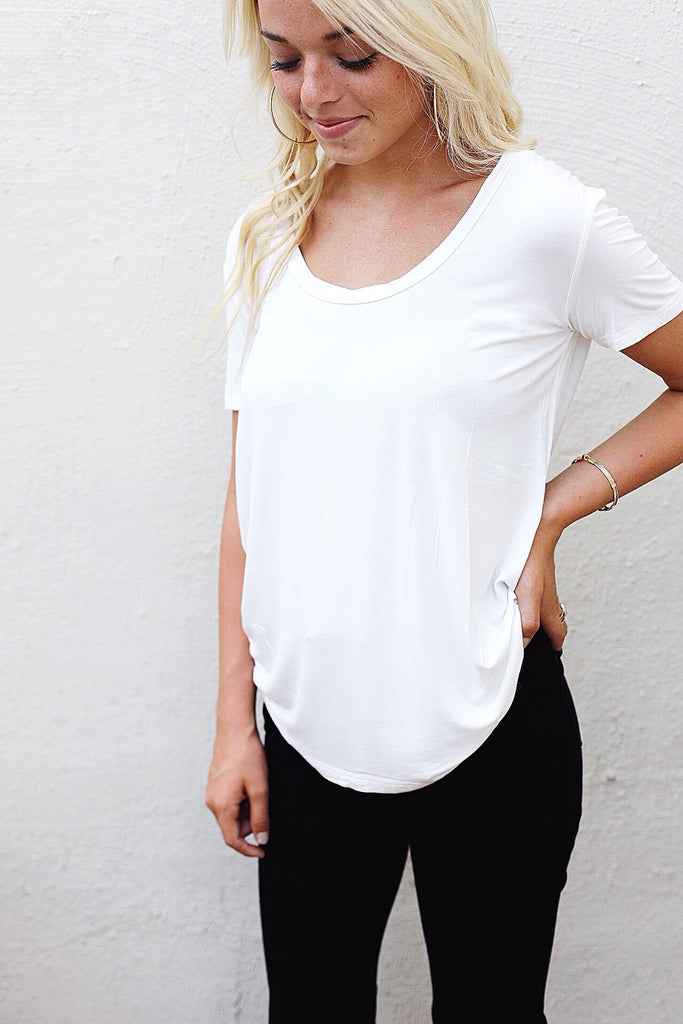 Simple Scoop Short Sleeve Tee
