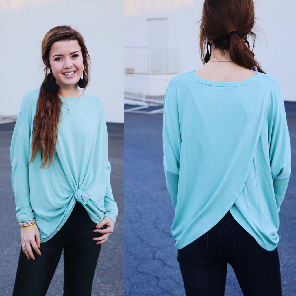 Long Sleeve Tulip Back Top