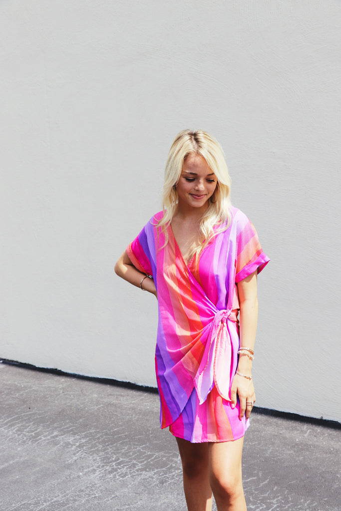 Sunset Wrap Dress