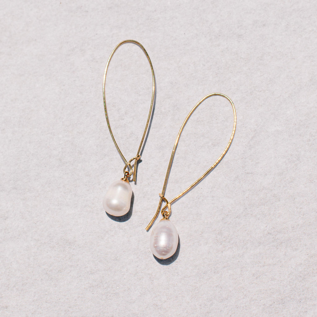 Freshwater Pearl Wire Earrings