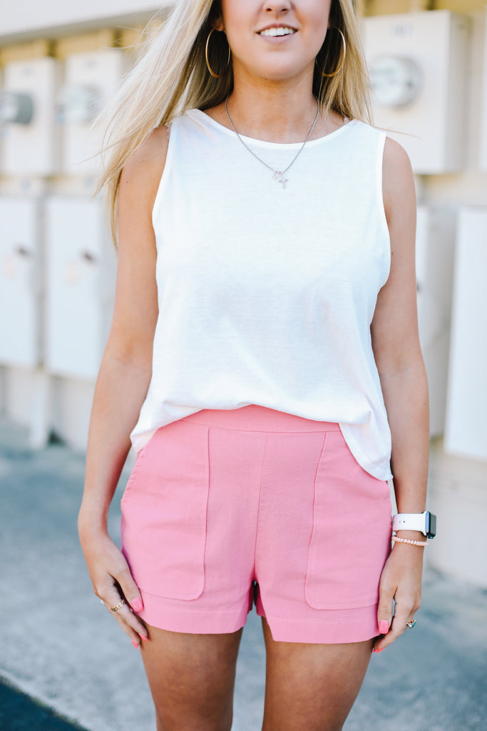 Structured Pocket Shorts