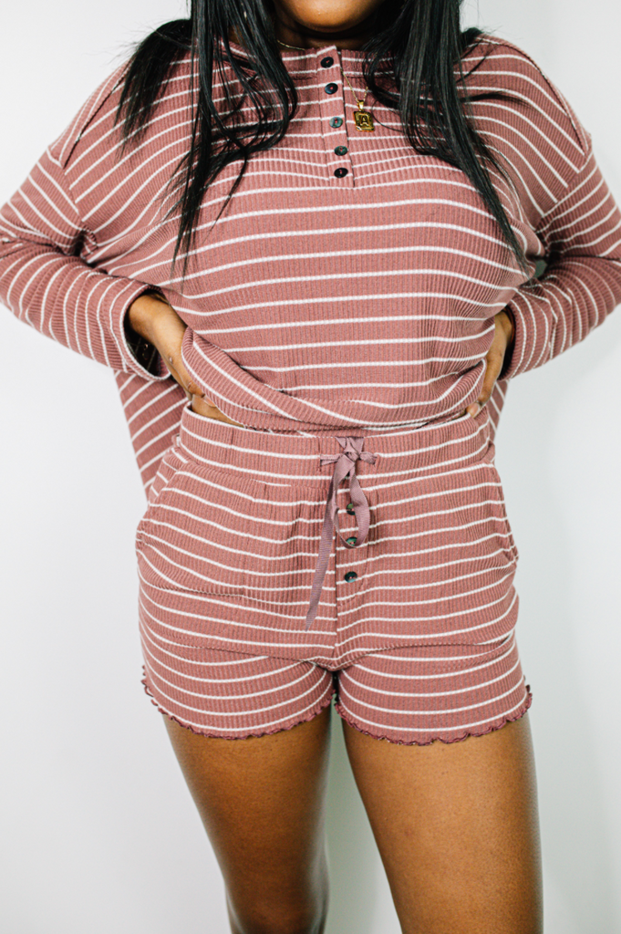 Noah Striped Lounge Shorts