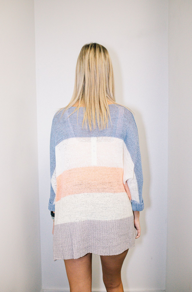 Striped Lightweight Knit Sweater