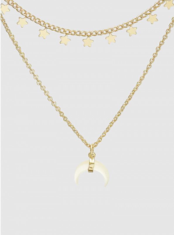 Layered Star Horn Necklace